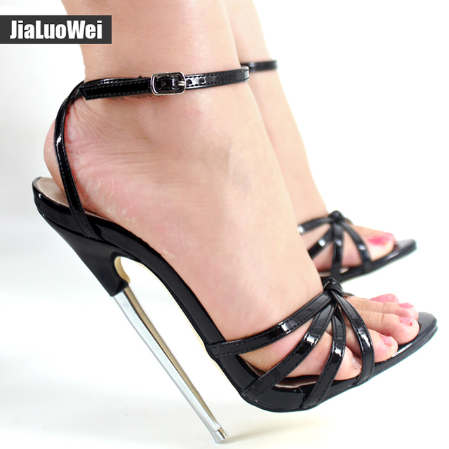 Fetish metal shoes