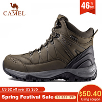 CAMEL Men High Top Hiking Shoes Durable Anti Slip High Quality Outdoor Climbing Trekking Shoes Military Tactical Boots