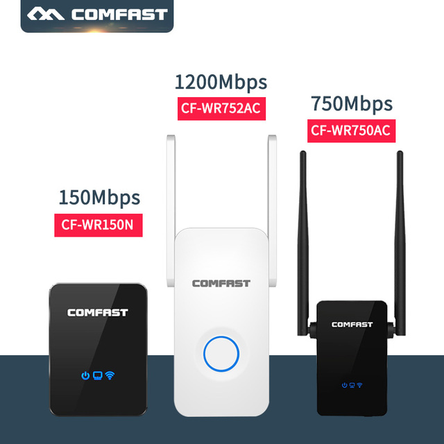 2.4G+5G Dual Band Wireless WIFI Repeater Extender 150M-1200M WiFi Signal Range Extender WiFi Signal Amplifier Mini wi fi Booster