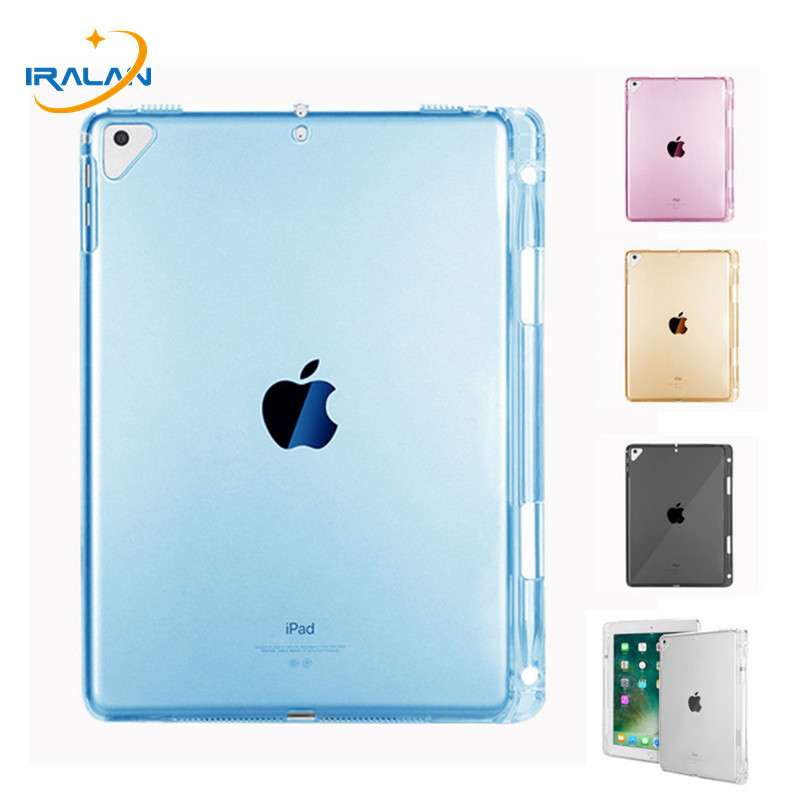 Tablet TPU Soft Case For IPad Air 3 10.5 2019 Slim Silicone Transparent Back Cover For IPad Pro 10.5 2017 With Pencil Holder