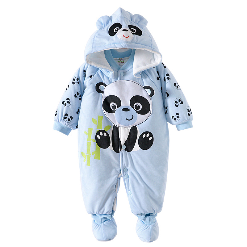 2016 Baby Warm Clothes Winter Thick Hooded Romper Newborn Boys Girls Animal Casual Cotton Windproof Jumpsuit Padded Outerwear autumn baby clothes flannel baby boys clothes newborn fleece animal girls jumpsuit hooded toddler cute bear romper baby costumes
