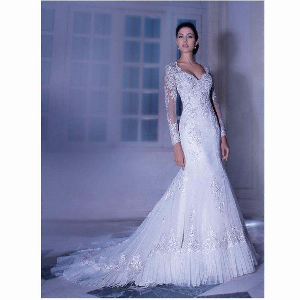 Lujo Vestido De Novia Trompeta Sirena Ideas Ornamento Elaboración ...