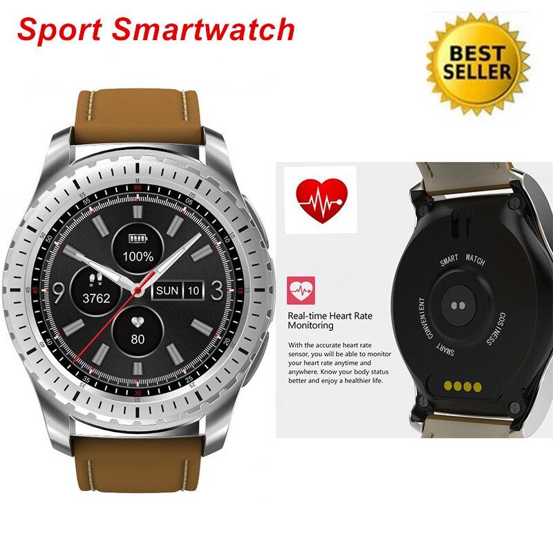 Sport Smartwatch Téléphone Podomètre 2G Sommeil Moniteur Musique Moniteur de Fréquence Cardiaque À Distance Caméra GPS Bluetooth Pour Hommes Montre Smart Watch
