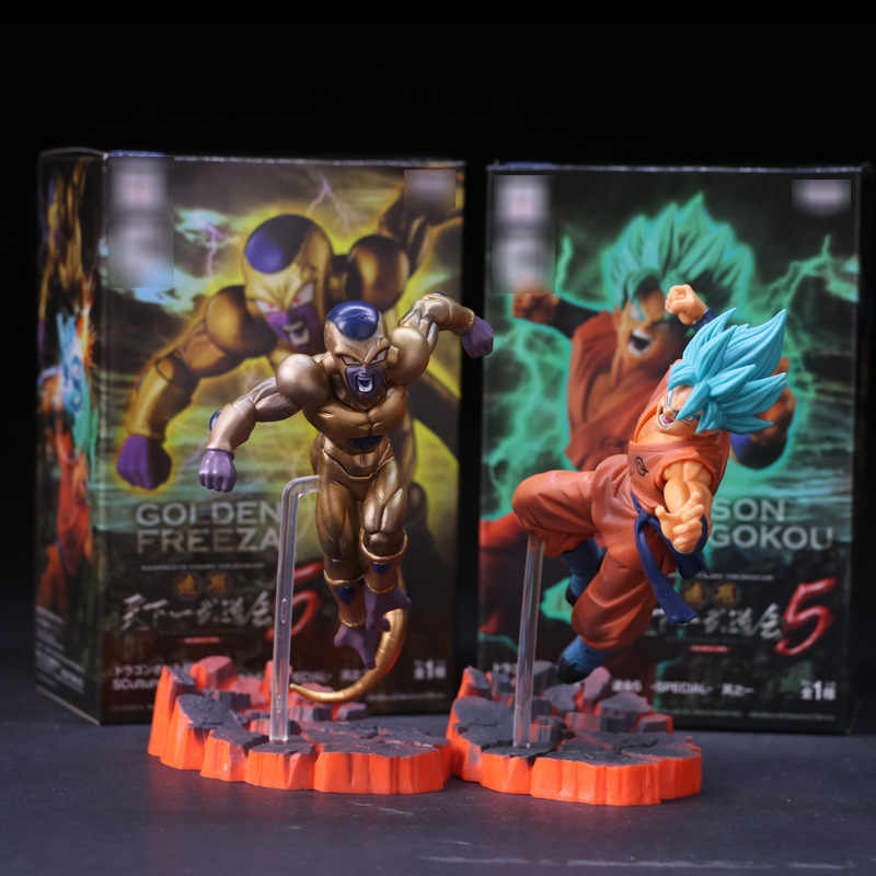 Anime Dragon Ball Z DBZ Frieza VS Son Goku PVC Action Figure Super Saiyan Goku Frieza de Ouro Brinquedo Modelo de Confronto 15 centímetros