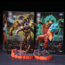 Anime dragon ball z frieza vs son goku figura de ação pvc dbz super saiyan goku ouro frieza confronto modelo brinquedo 15cm(China)