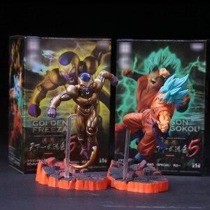Anime Dragon Ball Z Frieza VS Son Goku PVC Action Figure DBZ Super Saiyan Goku Gold Frieza Confrontation Model Toy 15cm