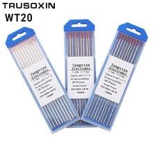 лучшая цена 10Pcs Red Color Code 175MM Thorium Tungsten Electrode Head Tungsten Rod Needle/Wire for TIG WSME SUPER Welding Machine/tools