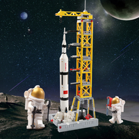 Newest Technic 425PCS DIY Blocks Compatible LegoINGly Launch Spaceport Rockets Model Building Blocks Toys For Children Gift