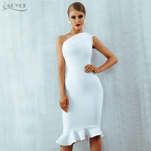 One Shoulder Sleeveless Ruffles Dress  5