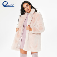 Women Winter Coats Outerwear Slim Long Pink Red Jacket Thicken Warm Faux Fur Coat Casual Shaggy Fake Fur Jacket Female Overcoats