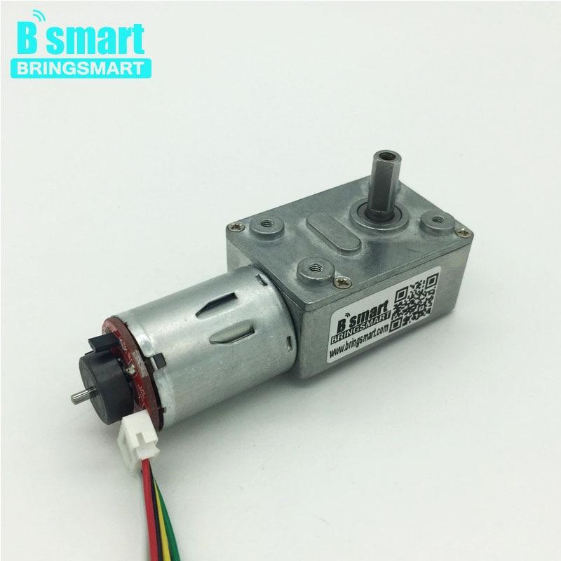 купить Bringsmart JGY-370B Worm Gear Motor High Torque 12V DC Motor Encoder Low Speed Mini Reduction Gearbox with Hall Encoding Board по цене 1093.87 рублей
