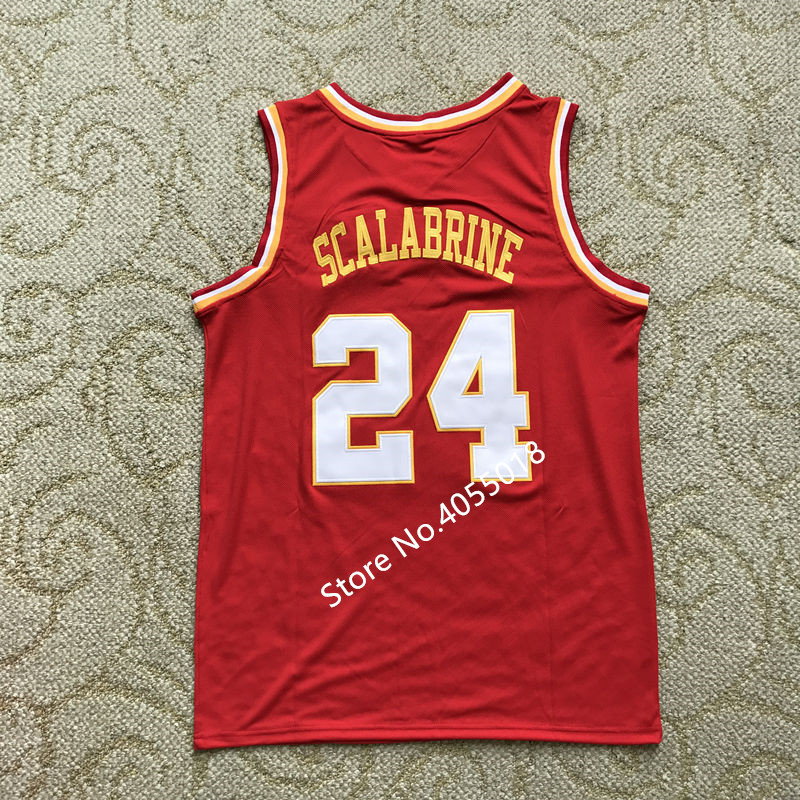 separation shoes 11a74 4a7ba US $29.75 15% OFF 2019 New Mens #24 Brian Scalabrine USC Trojans Throwback  College Basketball Jersey Stitched S XXL-in Basketball Jerseys from Sports  ...
