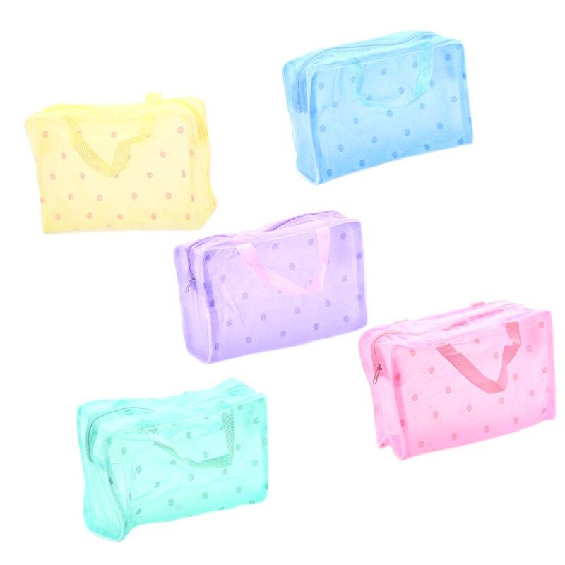 Waterproof Transparent Cosmetic Bag 5 Colors Women Floral PVC Travel Toiletry Bathing Storage Bag Make Up Organizer BagWaterproof Transparent Cosmetic Bag 5 Colors Women Floral PVC Travel Toiletry Bathing Storage Bag Make Up Organizer Bag