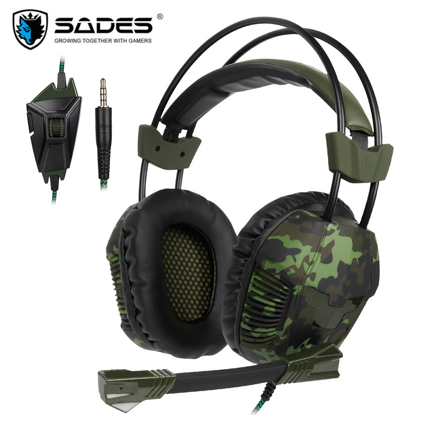 Sades SA921 Plus PS4 Game Headset Stereo PC Gamer Gaming Headphones With Microphone For Xiaomi Mobile Phone TV Laptop Earphone sades r5 ps4 headset gamer casque pc gaming headphones stereo earphone with mic for computer xbox one mobile phone laptop mac