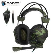 Sades SA921 Plus PS4 Game Headset Stereo PC Gamer Gaming Headphones With Microphone For Xiaomi Mobile Phone TV Laptop Earphones original n600 tv rechargeable multifunction 2 4g wireless headset tv headphones for tv pc pad laptop