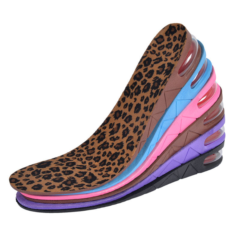 High Quality New 3-Layer 7CM Air Bubble Cushion Shoe Lift Height Increase Heel Insoles Pair Taller For Men and Women women flat sandals fashion ladies pointed toe flats shoes womens high quality ankle strap shoes leisure shoes size 34 43 pa00290