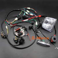 Full WIRING LOOM HARNESS CDI Coil Regulator Magneto Lights Key Switch 50cc 70cc 90cc 110cc 125cc ATV QUAD BIKE BUGGY New E Moto