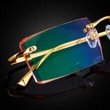 Очки из чистого титана, мужские очки по рецепту, индивидуальные очки по рецепту, очки для близорукости, дальнозоркости, бескаркасные оправы, модные