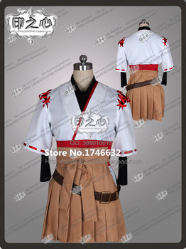 Hot Anime Kantai Collection KanColle Ise Hallowmas Lolita Dress Uniform Cosplay Costume Any Size Free Shipping NEW
