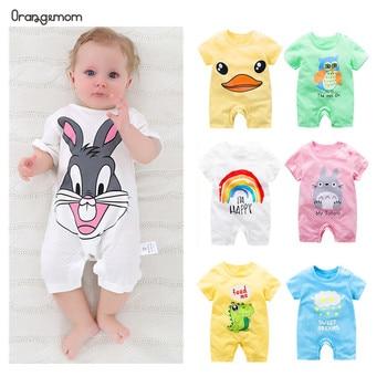 summer 2019 baby bodysuits 0-24M short sleeve body babies newborn baby girl boy clothes cotton infant bodysuit cartoon costume