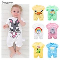 الصيف 2019 طفل داخلية 0-24 M قصيرة الأكمام الرضع هيئة الوليد طفلة الصبي الملابس القطن الرضع ارتداءها زي شخصية كرتونية