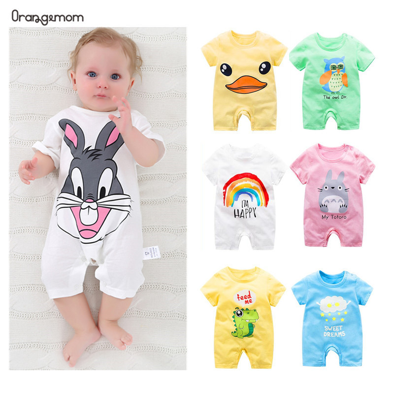 Summer 2020 Baby Bodysuits 0-24M Short Sleeve Body Babies Newborn Baby Girl Boy Clothes Cotton Infant Bodysuit Cartoon Costume