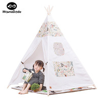 DIY World Children Solid Indian Toy Teepee Indoor Canvas Play Tent Portable Playhouse Kids For Outdoor