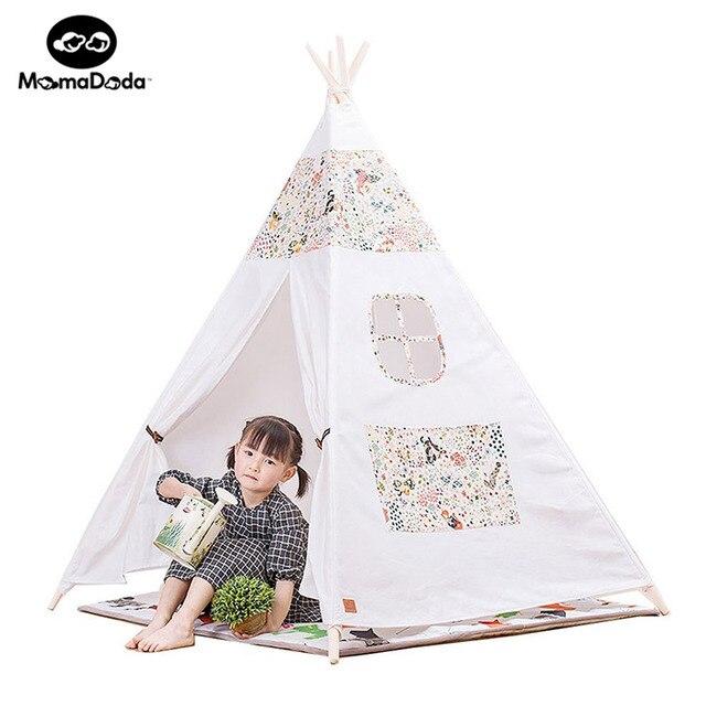 Enfants solide jouet indien tipi toile intérieure jouer tente ...