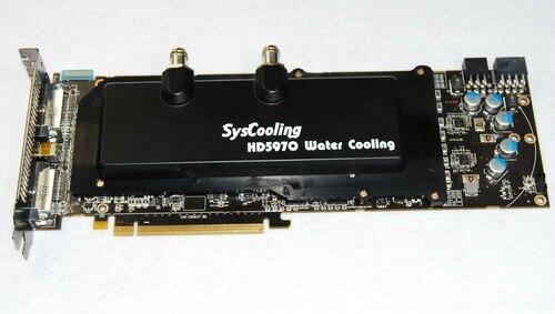 Syscooling 5970 carte graphique aluminium bloc d'eau radiateur de refroidissement à eau