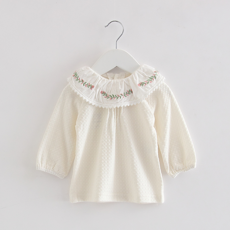 fa125ab00b52 Baby Girls Clothes 2019 Spring Newborn Baby Girls Toddler Kids Clothing  Lace Lantern Sleeve shirts Tops