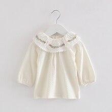 Одежда для маленьких девочек; весна г.; Одежда для новорожденных девочек; одежда для малышей; кружевные рубашки с рукавами-фонариками; Верхняя одежда; От 0 до 2 лет