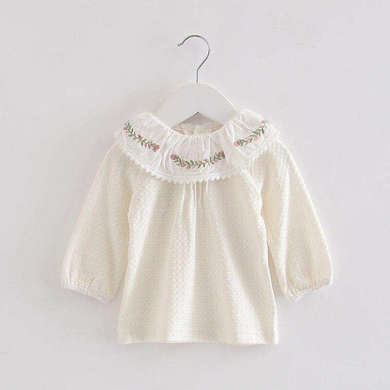 Baby Meisjes Kleding 2019 Lente Pasgeboren Baby Meisjes Peuter Kids Kleding Kant Lantaarn Mouw Shirts Tops Outfit 0-2y Elegant En Sierlijk