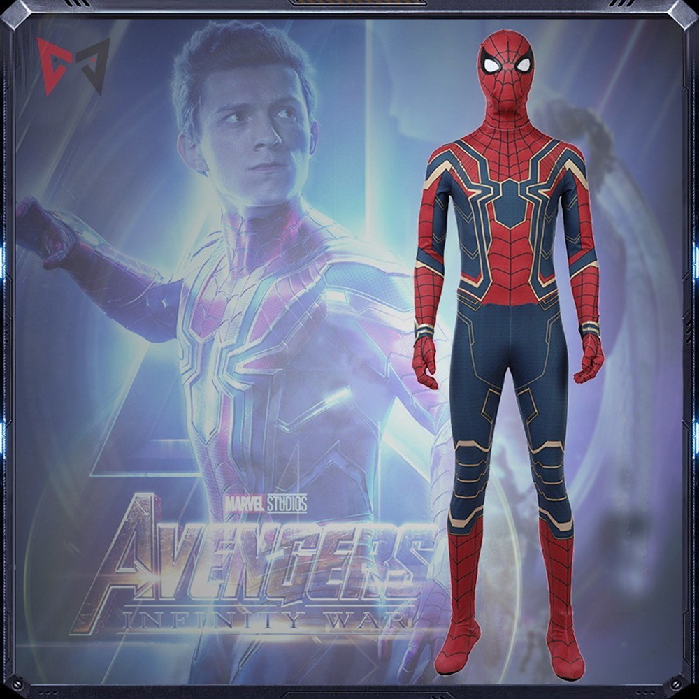 MMGG movie Avengers Iron spider jumpsuit Cosplay Costume battle suit 3D Printed Bodysuit ...