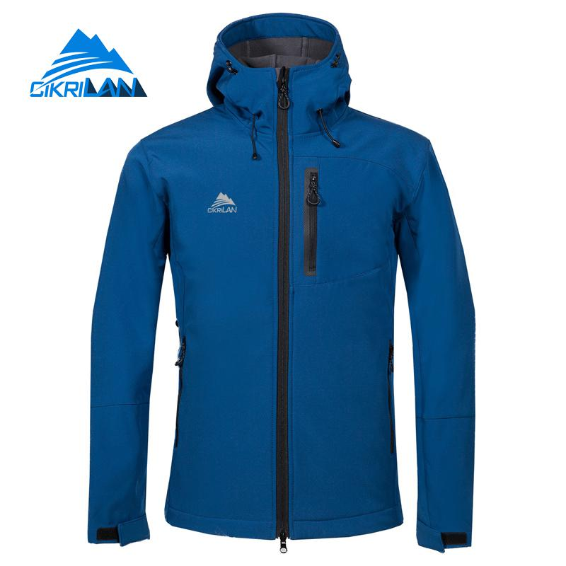 Autumn Winter Outdoor Sport Softshell Jacket Men Windproof Water Resistant Coats Camping Hiking Jackets Cycling Ski