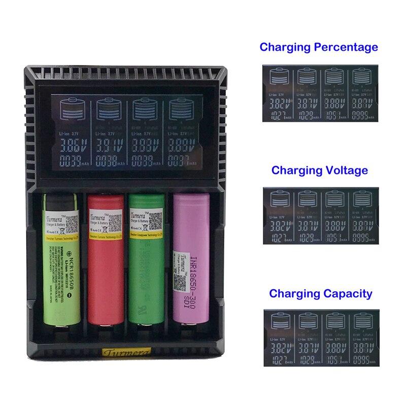 18650 chargeur de batterie lcd Turmera T4S pour 26650 21700 18500 18350 14500 NI-MH NI-CD un chargeur de batterie AA