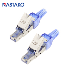ToolFree Shielded RJ45 Cat 7 / Cat6A Termination Plug Cat7 Plug Cat7 Connector Modular Toolless 23/24AWG Network Cable toolfree rj45 cat7 connector stp shielded modular plug toolless rj45 cat7 connectors for cat 7 solid network cable