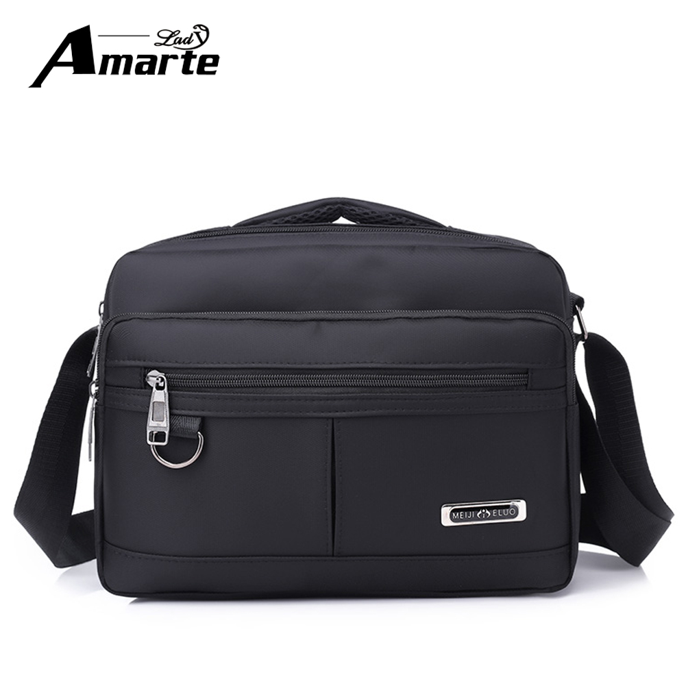 Aramte 2018 Men Bag Fashion Men Crossbody Bags Multifunctional Nylon Shoulder Bag Waterproof Male Travel Casual Messenger Bags