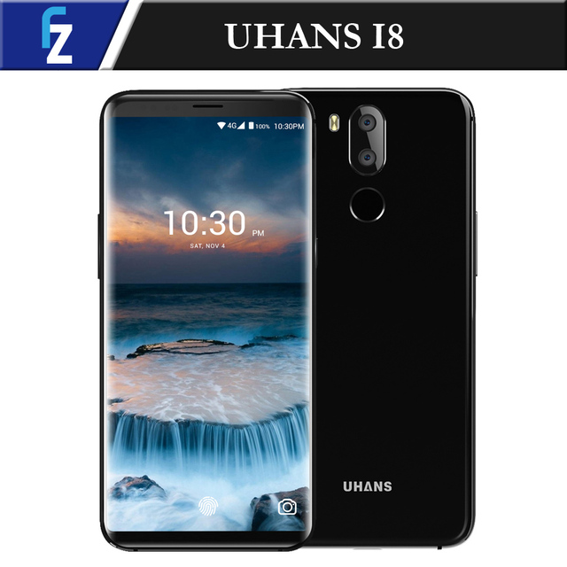 "UHANS I8 5.7"" 18:9 Bezel-Less Face ID MTK6750T Octa-core Android 7.0 4G Phone 4G RAM 64G ROM 16MP Dual Camera 3500mAh Smartphone"