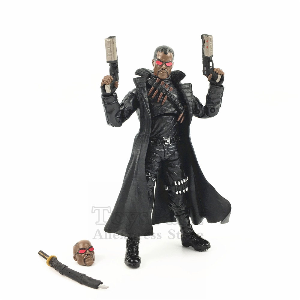 Custom Marvel Legends 6 BLADE Eric Brooks Action Figure With 2 Guns Heads From Netflix Man Thing BAF Wave Collectible Loose custom marvel legends 6 blade eric brooks action figure with 2 guns heads from netflix man thing baf wave collectible loose