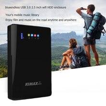 2.5 дюймов Wi-Fi hdd случае 300 Мбит/с беспроводной маршрутизатор 4000 мАч PowerBank 3 в 1 корпус USB 3.0 5 Гбит/с жесткий диск Caddy для 1 ТБ HDD SSD