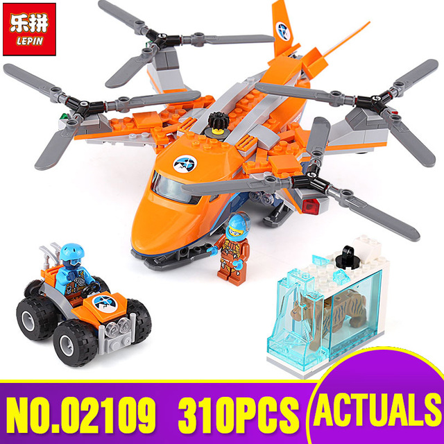 LEPIN City 02109 Arctic Air Transport Compatible Legoinglys City Toys 60193  Model Building Blocks Kids Toys As Christmas Gift-in Blocks from Toys &