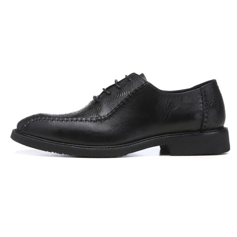 À Jacaré Festa Feitos Preto Mão Do Redondo Vestido Calçados Ss16 Homens Couro Oxfords Dedo Homem De Moda Pé Genuíno Banquete Casamento Dos Formal Sapatos qwWX7ngvI