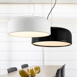 Image 5 - GZMJ מודרני מתכת LED אורות תליון לבן/שחור נורדי קצר LED שינה תליית מנורת 90V 240V e27 הנורה אוכל חדר HangLamp