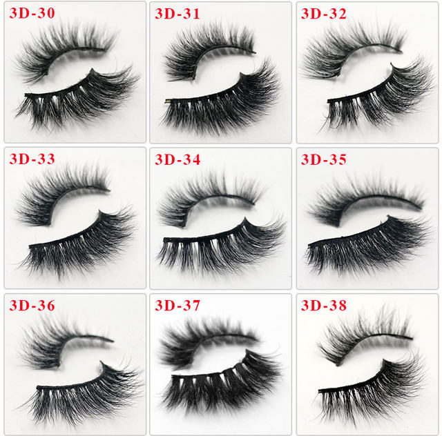 b04704db61b Online Shop iflovedekd False Eyelashes Handmade 3D Mink Hair Lashes ...