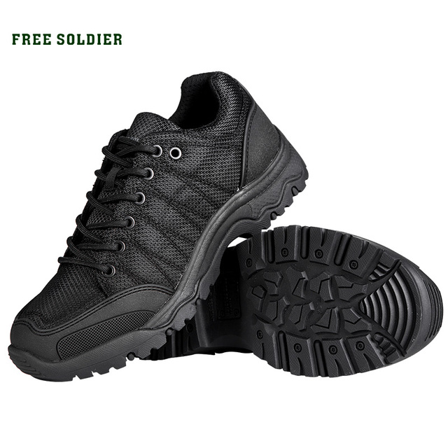 FREE SOLDIER Outdoor tactical hiking climbing men shoes breathable lightweight mountain boots