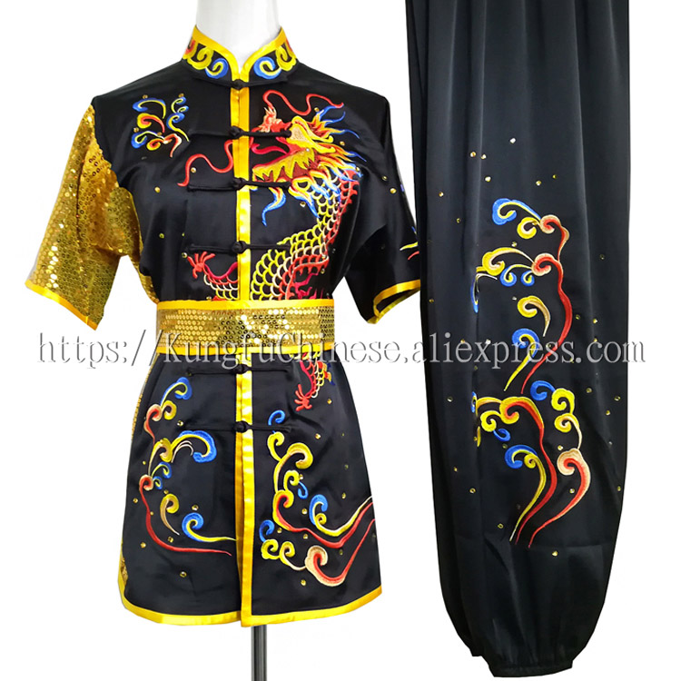 Chinese wushu uniform Kungfu clothes Martial arts suit taolu outfit embroidered for men women boy girl