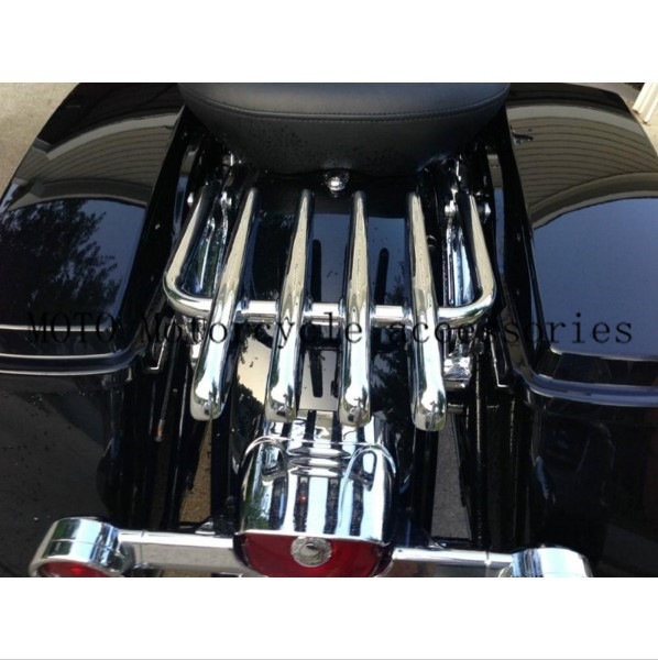 Motorcycle Detachable Stealth Luggage Rack for Harley Electra Glide Road King Street Glide Touring 09-16 Motorbike Luggage Rack motorcycle chrome luggage rack for harley touring road king street glide cvo road glide street electra glide flhr 2009 2017 16