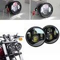 "Envío Libre Harley Parte 4.65 ""Dual Faros LED Para Harley Dyna Fat Bob"
