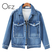2018 Autumn European Style Plus Size 5XL Women Short Jackets Denim Ladies Casual Outerwear Pockets Vintage Jeans Brand Clothing