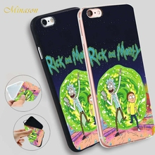 Minason Family Love Rick And Morty Cartoon Soft Silicone Phone Case for iPhone X 8 5S 5 SE 6 6S 7 Plus Cover
